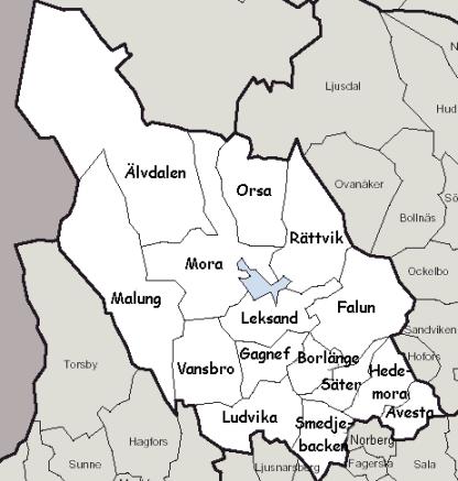 dalarna karta kommuner Kartor dalarna karta kommuner
